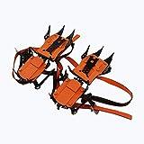 SCDXJ Taco De Hielo Antideslizante Multifunción De 10 Picos con Tacos De Tracción De Cadena De Acero Inoxidable,Orange