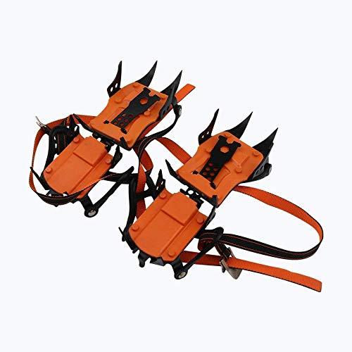 10 Spikes Anti-Rutsch-Multifunktions-Eisklampe Mit Traktionsklampen Aus Edelstahl,Orange