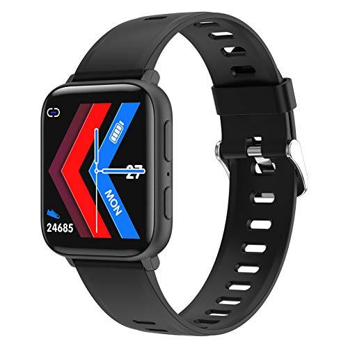 YDK Smart Watch HD Grabación, Ritmo Cardíaco, Monitoreo De Oxígeno En La Sangre, Reproducción De Música, Pulsera Impermeable Multi-Deportes A2S para Android iOS,B