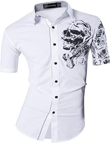 Sportrendy Hombre Moda Verano Camisetas de Manga Corta Men Shirts Slim Fit...