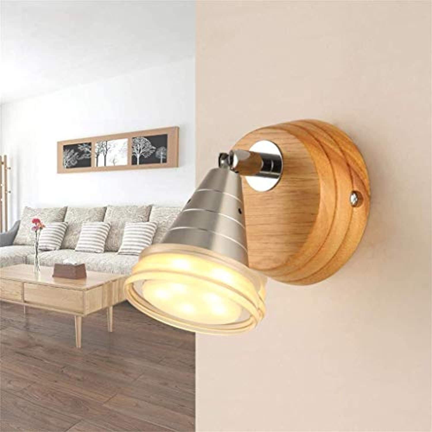 Oudan Moderne, minimalistische Lounge Light, warme Holz Wandleuchte LED (Farbe   -, Gre   -)