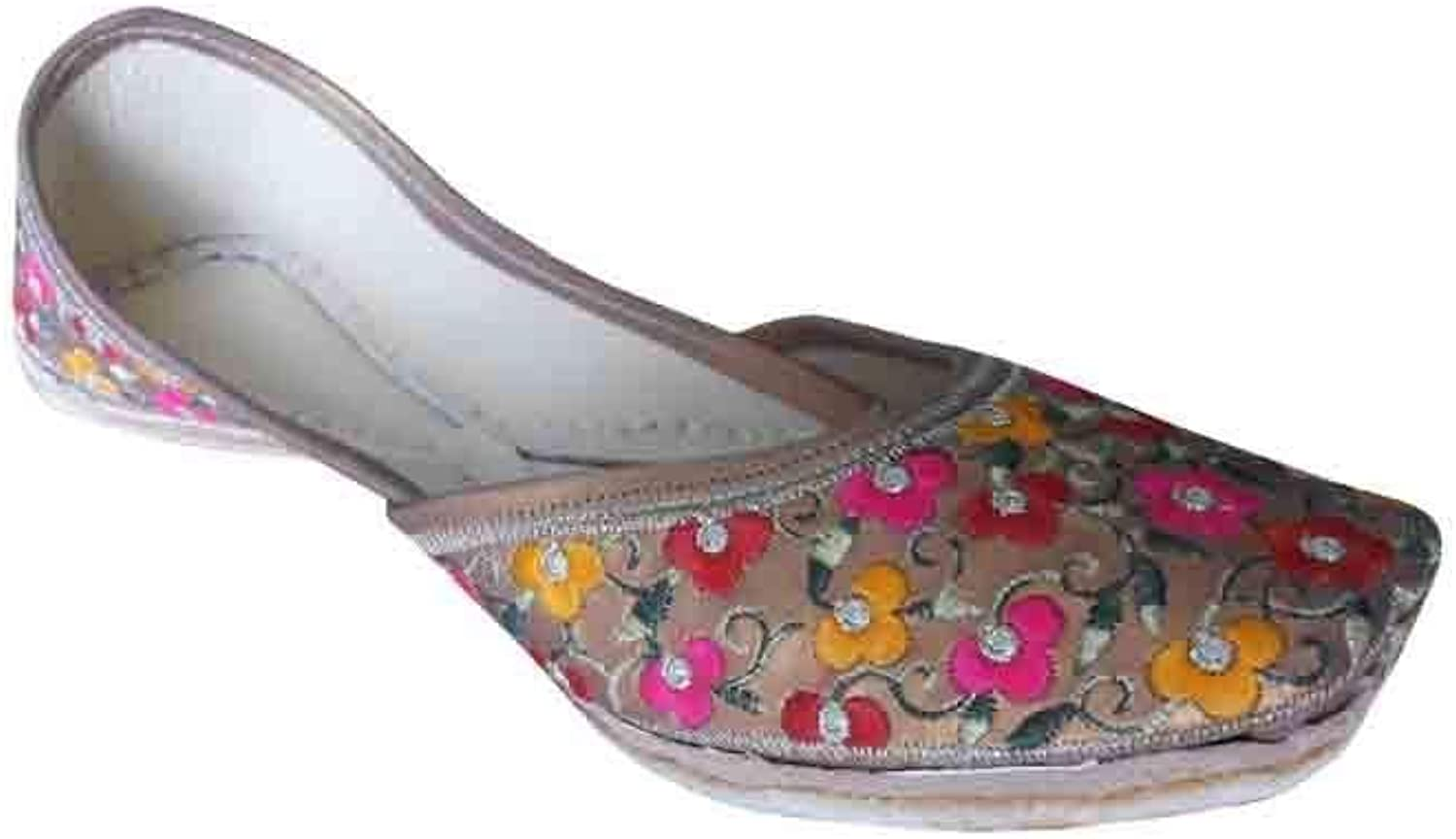 Kalra Creations Jutti Traditional Indian Women shoes Punjabi Mojari Leather Flipflops