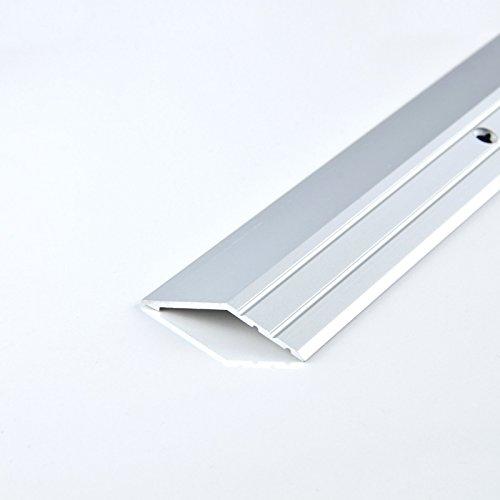 [DQ-PP] 1 x ALU PROFIL Abschlussprofil 16mm gebohrt inkl. Schrauben Farbe: silber, Länge: 100cm Teppichschiene Schweller Laminat Parkett Übergangsprofil NEU