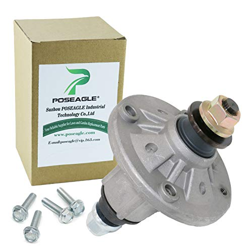 POSEAGLE GY21098 Lawn Mower Spindle Assembly Replaces John Deere GY20454 GY20867 GY20962 Fits John Deere D100-D160,LA100-LA165,X110,X120-42 48' Deck