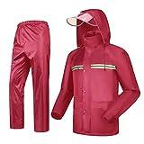 YF-Carpet - Traje de lluvia para motocicleta, impermeable, chaqueta y pantalones, 2 piezas de lluvia para adultos, Tela de nailon, XXXL