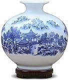 Vase Tumba de cerámica hecha a mano moderna simple para decoración de flores secas arte hogar sala de estar dormitorio oficina escritorio blanco 16 x 16 cm para flores