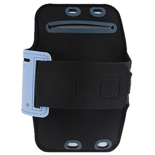 Wckxy Caja del Teléfono De La Caja del Brazal del Deporte del Auricular con El Agujero Y La Clave De Bolsillo For El iPhone 6 Plus St (Color : Blue)