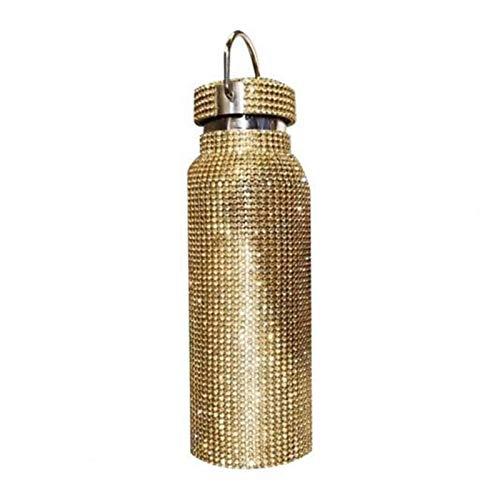 XINGYAO Taza de 350 ml/500 ml/750 ml termo botella de agua de acero inoxidable chispeante termo taza termo para decoración de regalos (color: dorado 350 ml)