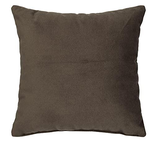 postergaleria Elegante cojín de sofá monocolor o cojín de sofá en el tamaño 40 x 40 (chocolate).