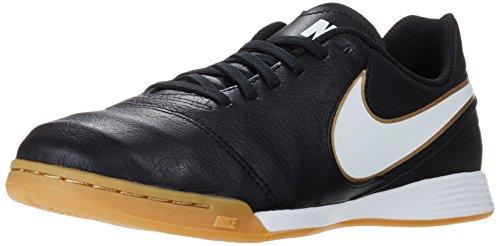 Nike Nike Tiempo Legend VI IC Jr Unisex-Kinder Fußballschuhe, Schwarz (Schwarz/Weiß/Gold), 35.5 EU
