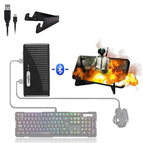 ATUTEN Tastatur und Maus Adapter, PXN-K10 USB Mobile Game Controller Konverter kabelgebundene/kabellose Verbindungen, Tastatur und Mausadapter für Android/IOS PUBG FPS COD Handyspiele Assistent