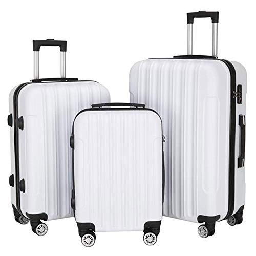 SFBBBO luggage suitcase Multifunctional Large Traveling Storage Suitcase Luggage Set Rose Gold White