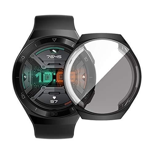 KKmoon TPU Smart Watch Case Capa de relógio de proteção à prova de choque Smartatch à prova de arranhões com protetor de tela compatível com HUAWEI WATCH GT 2e