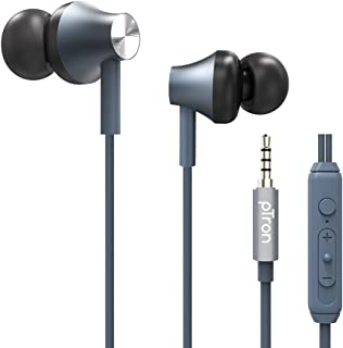 PTron Pride Evo Wired In-Ear Earphone With Mic (Grey)