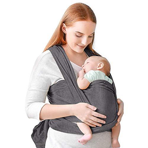 Portabebés, portabebés cómodo, portabebés manos libres, ligero, transpirable, suave, perfecto para recién...