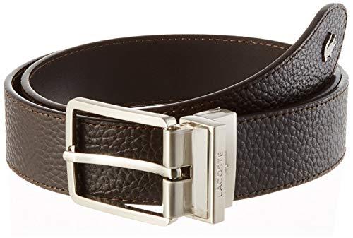 Lacoste RC4021 Cinturón, Marrón, 110 cm para Hombre