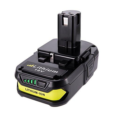 MASIONE 2500mAh P102 Battery for Ryobi 18V Battery P102 P103 P105 P107 P108 P109 P104 P106
