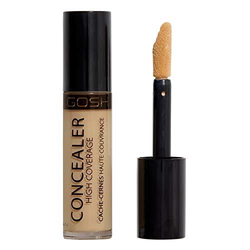 GOSH Concealer High Coverage 004 Natural für optimale Deckkraft │flüssiges Make-Up, deckt Augenringe, Rötungen, Unreinheiten zuverlässig ab │ Highlighting & Contouring | Falten wegschminken │Vegan