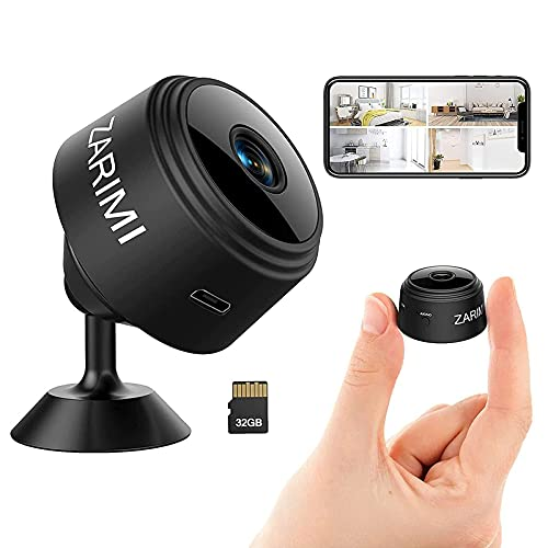 Mini Spy Camera - 1080p Hidden Camera With Audio Live Feed Wifi - Portable Night Vision And Motion Detection Wireless Small High-Definition Nanny Cam, Indoor Secret Surveillance Camera For Home Office