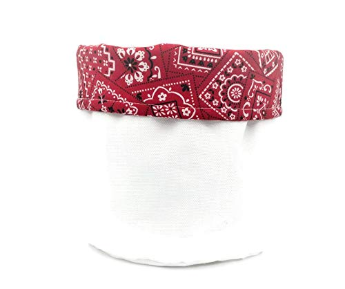 Red New products world's highest Wholesale quality popular Bandanna Print Decorative Cloth Bin Cotton Canvas -