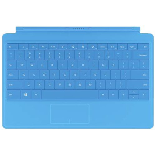 Microsoft Type Cover 2 - Qwerty UK Keyboard For Microsoft Surface 2 and Pro 2 Tablet- Cyan Blue
