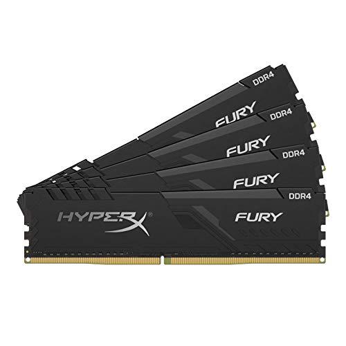HyperX Fury (HX432C16FB3K4/128) Arbeitsspeicher 128GB 3200MHz DDR4 CL16 DIMM (Kit 4x32GB), schwarz