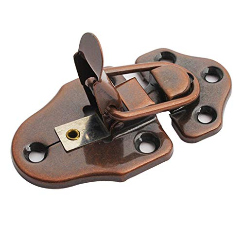 6 Pieces Metal Table Locks Dining Training Table Buckles Connectors Table Leaf Cabinet Hardware Accessories (Red Bronze)