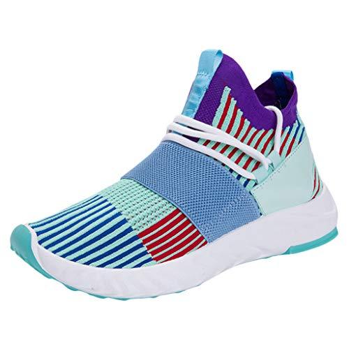Leichte Laufschuhe für Herren/Skxinn Unisex Fitness Turnschuhe Atmungsaktiv rutschfeste Mode Sneaker Sportschuhe Outdoor Wanderschuhe Sneaker für Herren Damen Ausverkauf(Z3-Grün,42 EU)