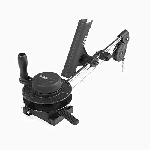 Scotty #1050 Depthmaster Manual Downrigger, Display Packed w/ Rod Holder, BLACK, 23'