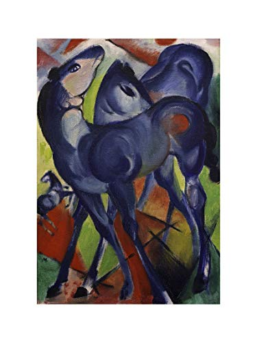 Franz Marc - The Blue Foals 1913 Print 60x80cm