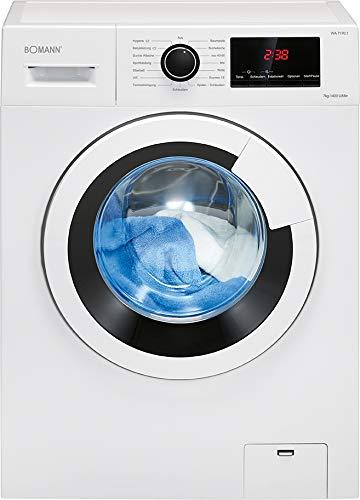Bomann Waschmaschine WA 7170/77 kWh/100Betriebszyklen / LED-Display / 7 kg Fassungsvermögen/weiß