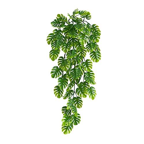 cuiyoush Plantas colgantes artificiales con una cesta, plantas verdes de pared de 76 cm para colgar en interiores y exteriores, decoración de boda, color verde