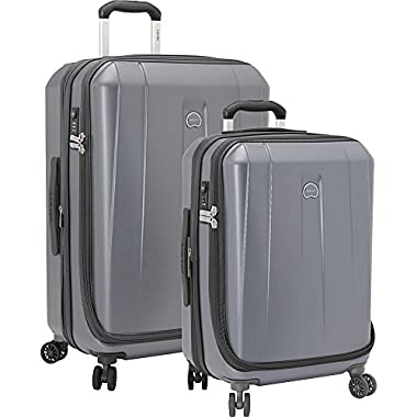Delsey Luggage Shadow 3.0 2 Piece Hardside Spinner Carry on and Check Set, Platinum