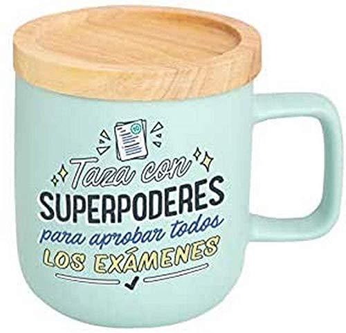 Mr. Wonderful Taza-SUPERPODERES para APROBAR Todos LOS EXÁMENES, Multicolor, 8,3 x 8,3