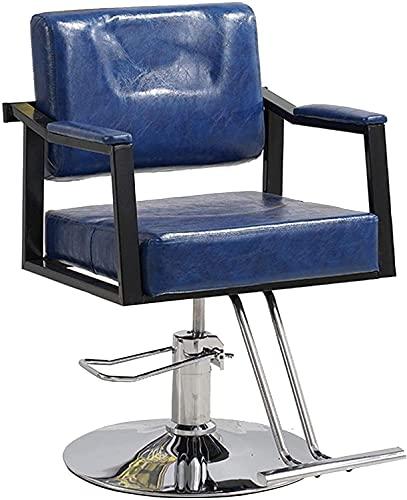 Sillón de peluquero reclinable hidráulico multiusos, sillón de peluquero, sillón de peluquería de cuero ajustable para estilizar, sillón de salón de belleza hidráulico, equipo de champú para spa de s