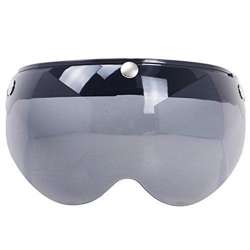 KKmoon Universal Windproof 3-Snap Motorradhelm Visier vorne Flip Up Visier Windschutzscheibe Objektiv für Motorradhelm Sonnenbrille