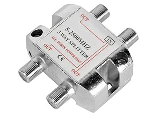 Distribuidor de antena coaxial 1 entrada, 3 salidas 5-2500Mhz