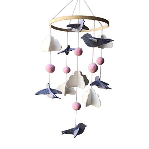 Fenteer Fieltro bebés cuna móvil colgante cuna campana sonajero juguete para recién nacidos niñas niños - Pájaro