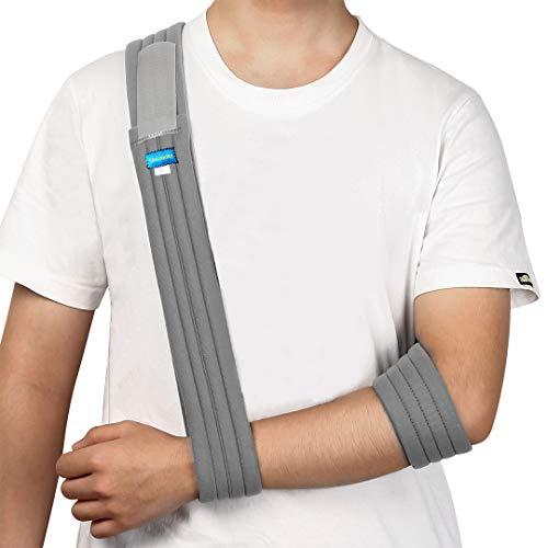 Unizooke Arm Sling - Medical Support Strap for Broken & Fractured Bones - Adjustable Shoulder, Rotator Cuff Full Soft Immobilizer - For Left, Right Arm, Men Women(Simple/Lightweight/Comfortable)