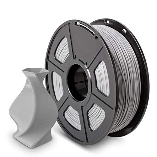 YANGDONG 1kg 3D-Druckerfilament PLA/PLA Plus, 1,75 Mm Hochwertiger PLA-Filament, Niedrigschrumpfungsverbrauch, Für 3D-Drucker Und 3D-Stifte (Color : PLA Grey)