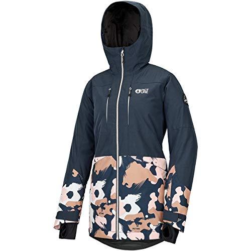 Picture W Apply Jacket Colorblock-Blau-Pink, Damen Isolationsjacke, Größe S - Farbe Dark Blue