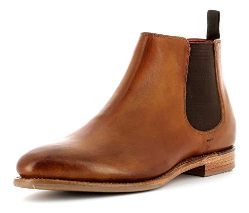 Gordon & Bros. Damen Chelsea Boots Paris 5770,rahmengenähte,Flexible Frauen Stiefel,Halbstiefel,Stiefelette,Bootie,Goodyear Welted,Schlupfstiefel,British TAN,EU 38