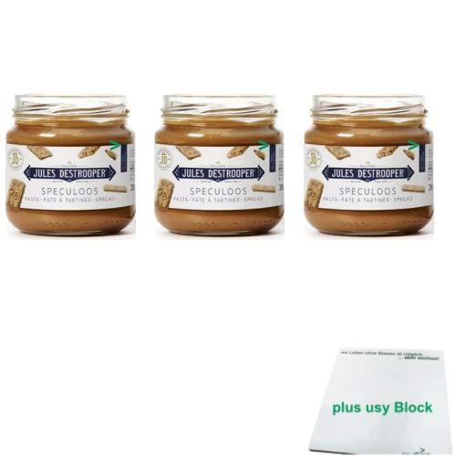 Jules Destrooper Speculoos Brotaufstrich 3er Pack (3x200g Glas) + usy Block