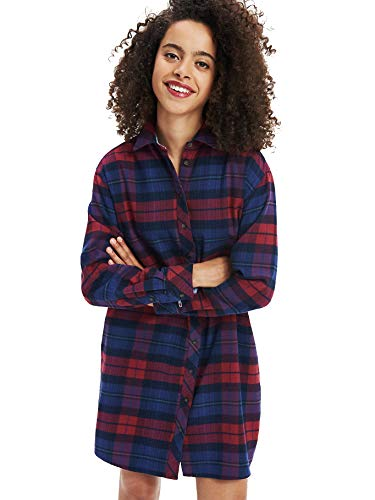 Tommy Jeans Dames Tjw Check flannel shirt jurk