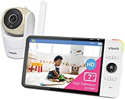 VTech VM919HD Video Monitor with 7-inch True-Color HD 720p Display, Fully Remote Pan, Tilt, Zoom, 360 Panoramic Viewing,...