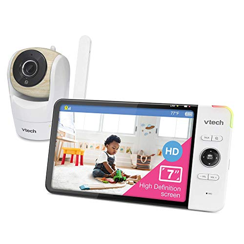 VTech VM919HD Video Monitor with 7-inch True-Color HD 720p Display, Fully Remote Pan, Tilt, Zoom, 360 Panoramic Viewing, 110 Wide-Angle View, HD Night Vision, Up to 1000ft Range, Plug&Play System