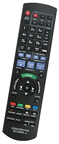 ALLIMITY N2QAYB001046 IR6 Fernbedienung Ersatz für Panasonic Blu-ray Recorder DMR-BST720 DMR-BST835 DMR-BST950 DMR-BCT720EG DMR-BST835EG DMR-BST950EG DMR-BCT721 DMR-BCT755 DMR-BWT720 DMR-BCT720