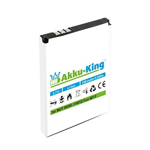 Akku-King Akku - ersetzt 312BAT006 / BD50 Li-Ion 750mAh - für AVM FritzFon MT-F, M2, C4, C5, AVM 20002446