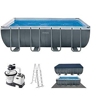 vidaXL Intex Ultra - Juego de piscina exterior rectangular, de 549 x 274 132 cm, 28352GN