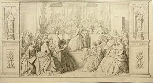 H. W. Fichter Kunsthandel: J.ERNST(1830-1861), Musikstunde, nach Schwind, Kupferstich